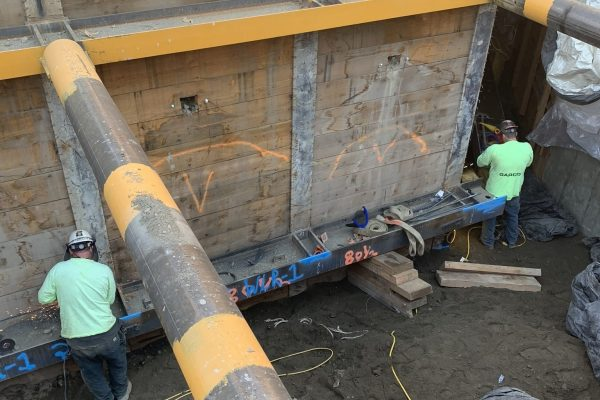 Crew down in the below ground work zone welding