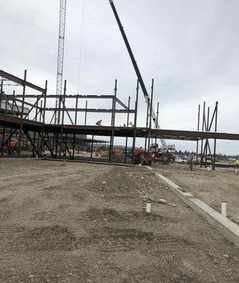 Area C steel erection